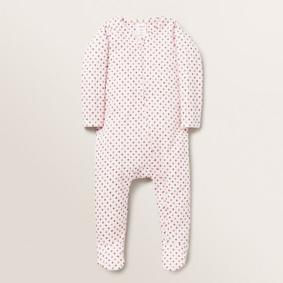 Floral Zip Suit  BUBBLEGUM  hi-res