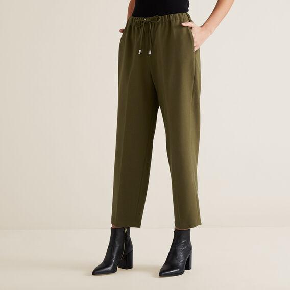 Slim Leg Drawcord Pant  RICH OLIVE  hi-res