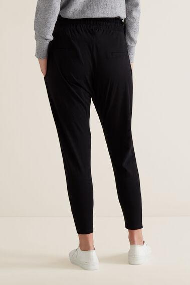 Soft Casual Harem Track Pant  BLACK  hi-res