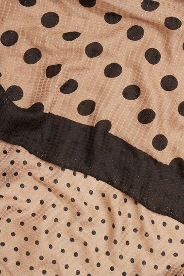 Mixed Spot Print Scarf  WALNUT BLACK  hi-res