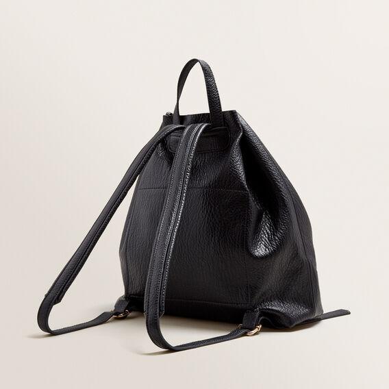 Ellie Drawstring Backpack  BLACK  hi-res