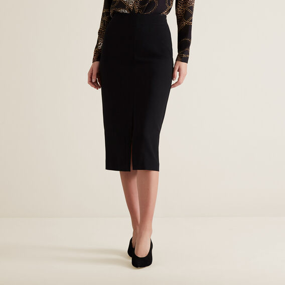 Front Split Skirt  BLACK  hi-res