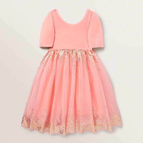 Velvet Tutu Dress  CORAL PINK  hi-res