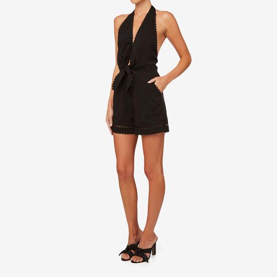 Tie Front Jumpsuit  BLACK  hi-res
