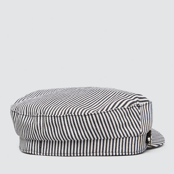 Stripe Fisherman Cap  BLACK  hi-res