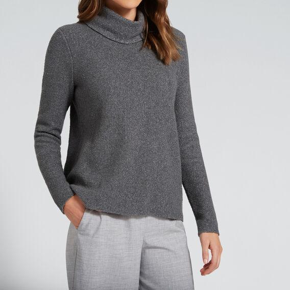 Oversized Neck Knit  CHARCOAL MARLE  hi-res