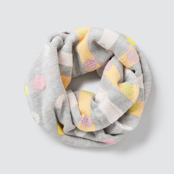 Spot And Stripe Snood  CLOUD  hi-res