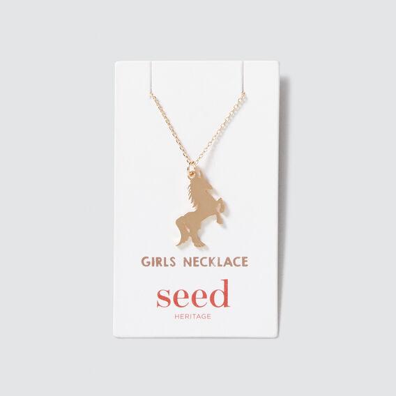 Unicorn Necklace  GOLD  hi-res