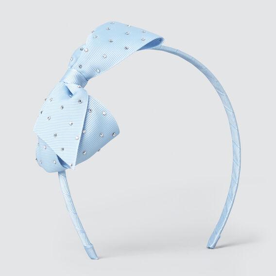 Stud Bow Headband  OCEAN BLUE  hi-res