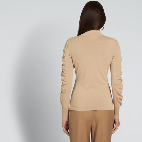 Crepe Roll Neck Knit  SOFT BEIGE  hi-res