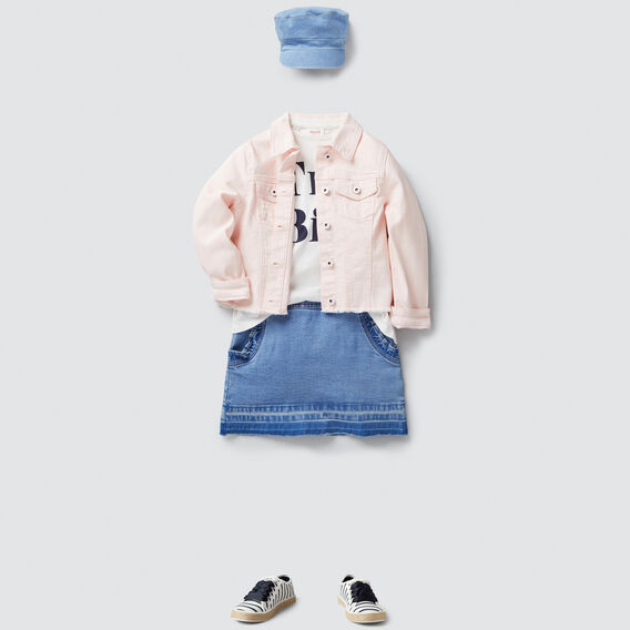 Frayed Denim Jacket  ICE PINK  hi-res