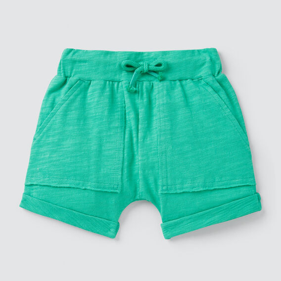 Slub Jersey Pocket Short  PARROT GREEN  hi-res