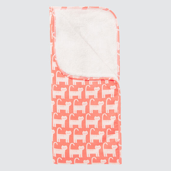 Cat Yardage Sherpa Wrap  CORAL RED  hi-res