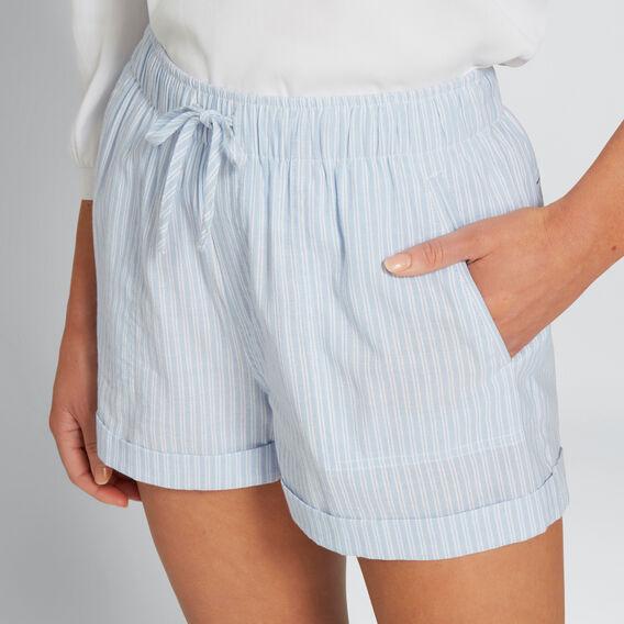 Stripe Drawcord Short  CHAMBRAY STRIPE  hi-res