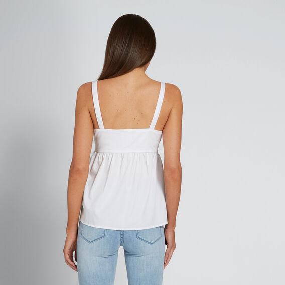 Cotton Tie Front Top  WHISPER WHITE  hi-res