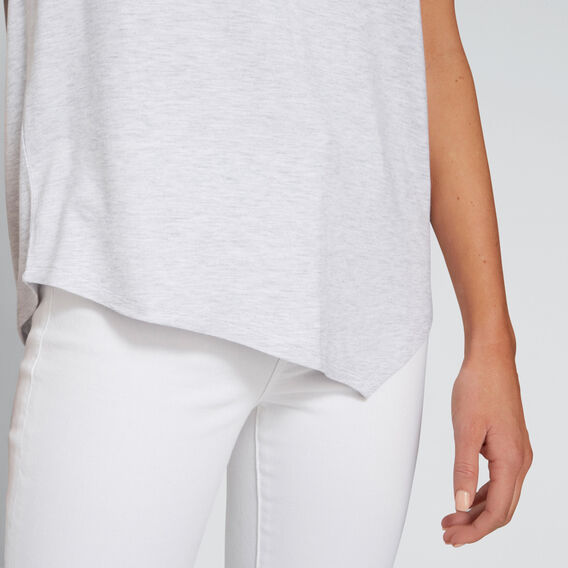 Asymmetric Tee  LIGHT GREY MARLE  hi-res
