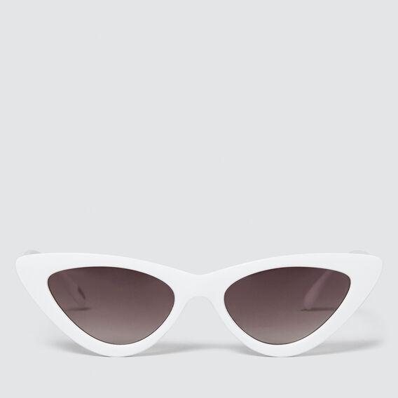 Belle Fashion Cat Eye Sunglasses  WHITE  hi-res