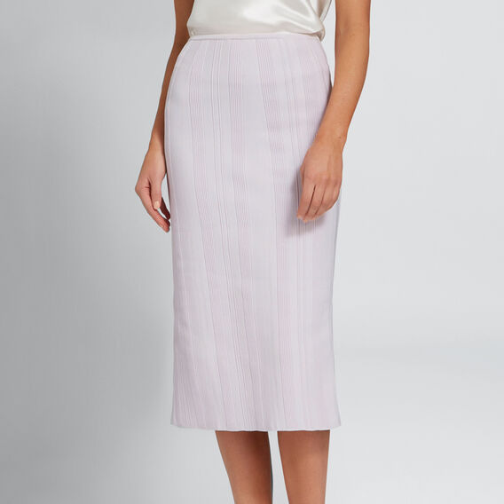 Crepe Pencil Skirt  LAVENDER  hi-res
