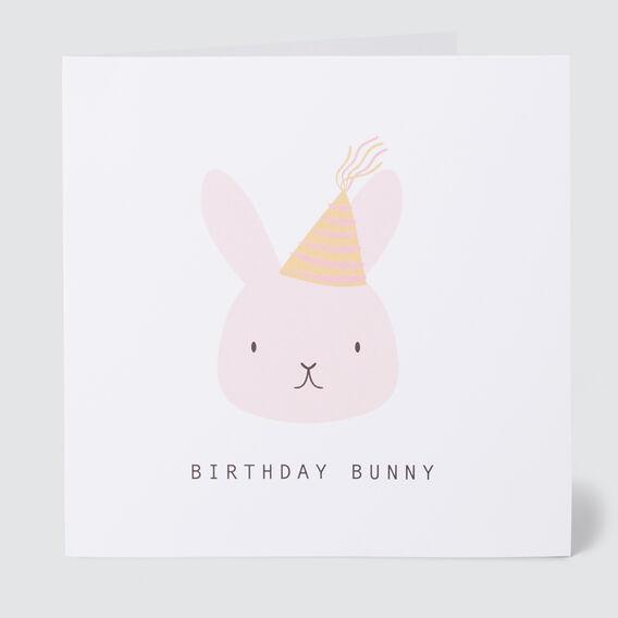 Large Bunny Birthday Card  MULTI  hi-res