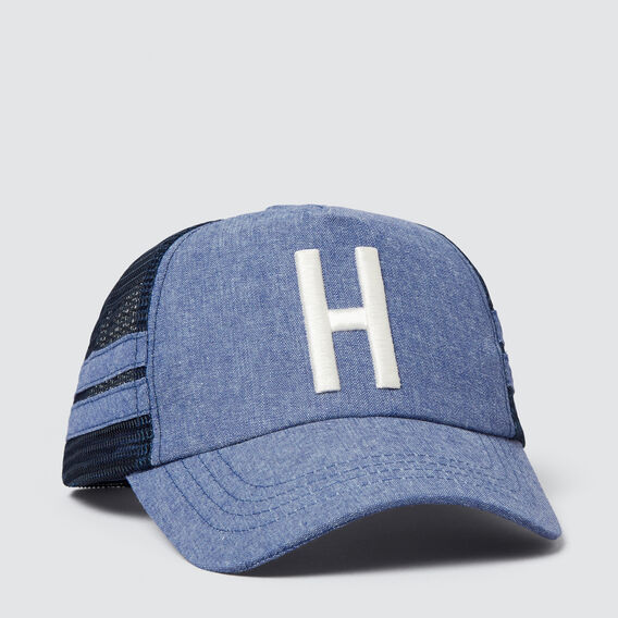 Boys' Initial Mesh Cap  H  hi-res