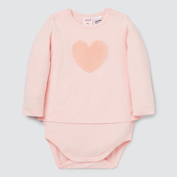 Heart Bodysuit  PRETTY PINK  hi-res