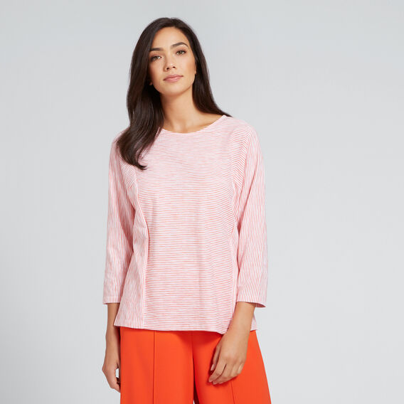 Relaxed Stripe Top  SPANISH RED STRIPE  hi-res