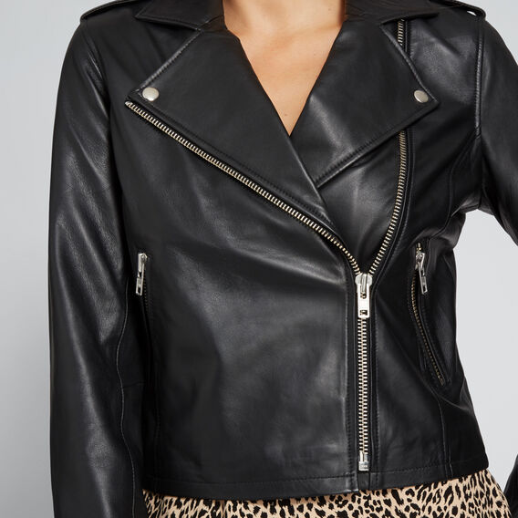 Leather Jacket  BLACK  hi-res