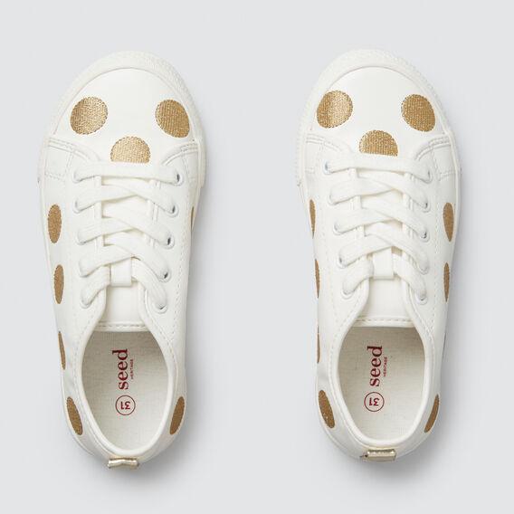 Gold Lurex Spot Trainer  WHITE/GOLD  hi-res