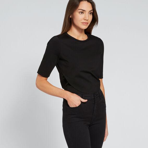 Wrapped Top  BLACK  hi-res