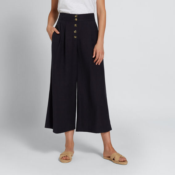 Textured Culotte  DEEP NAVY  hi-res