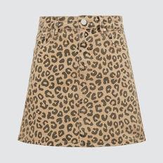 Ocelot Denim Skirt  OCELOT  hi-res