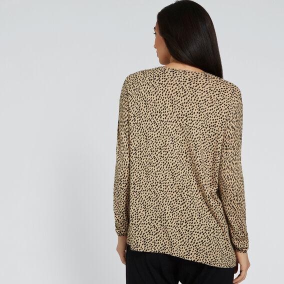 Asymmetric Ocelot Sweater  OCELOT  hi-res
