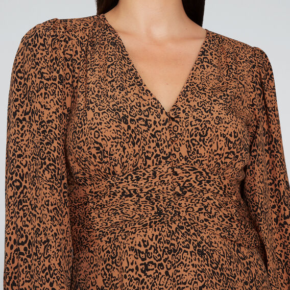 Ocelot Print Dress  ANIMAL PRINT  hi-res