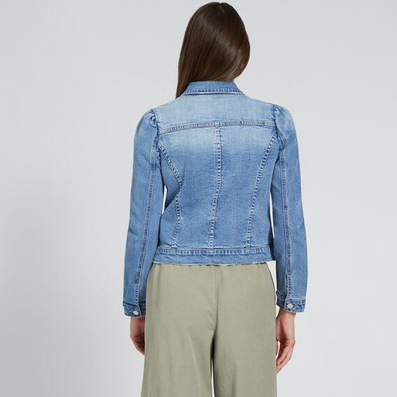 Puff Shoulder Denim Jacket  CLASSIC DENIM  hi-res