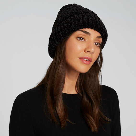 Knit Beanie  BLACK  hi-res