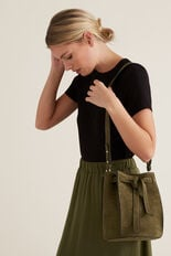 Knot Closure Bucket Bag  RICH OLIVE  hi-res
