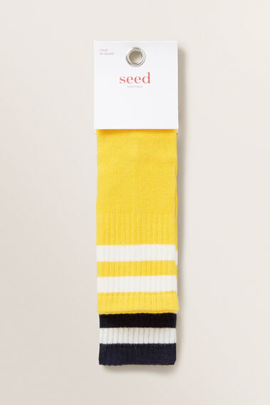 Two Pack Rib Socks  MULTI  hi-res