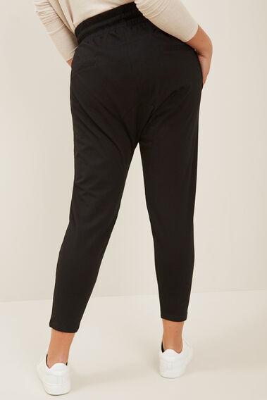 Harem Track Pants  BLACK  hi-res