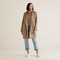 Luxe Textured Coat  WALNUT  hi-res