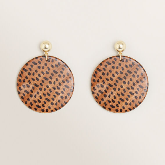 Spot Disk Earrings  BROWN  hi-res