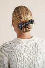 Bow Scrunchie  BLACK/WHITE  hi-res