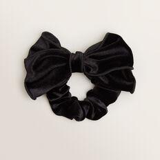 Velvet Bow Scrunchie  BLACK  hi-res
