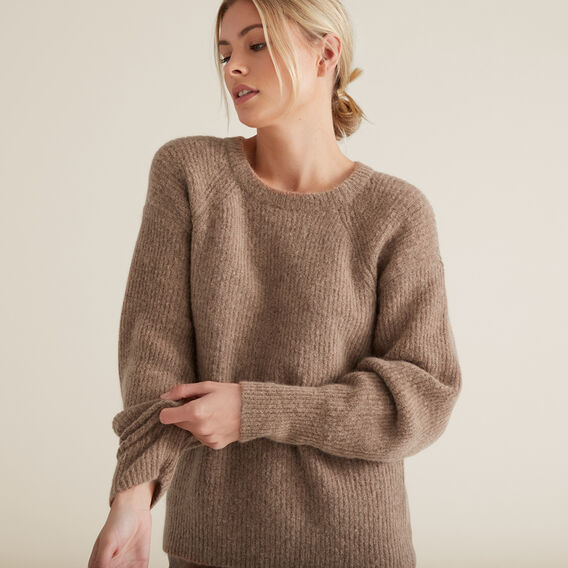Cosy Rib Knit  WALNUT  hi-res