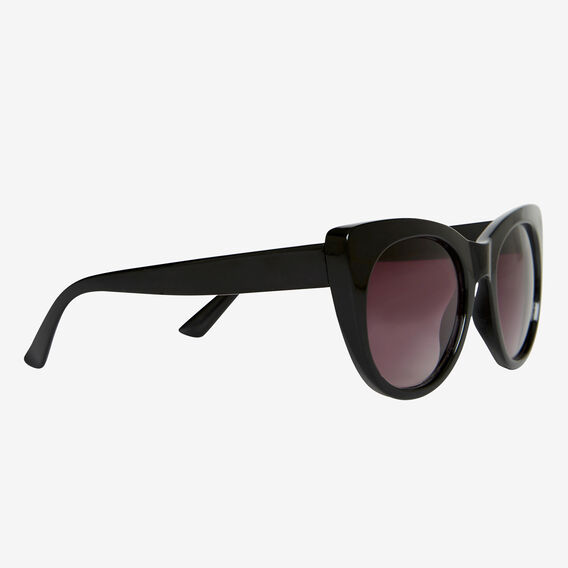 Amelie Cats Eye Sunglasses  BLACK  hi-res