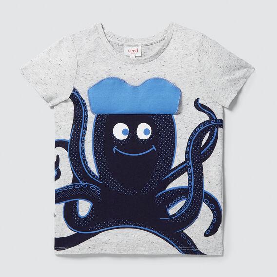 Flip Octopus Tee  CLOUDY MARLE  hi-res