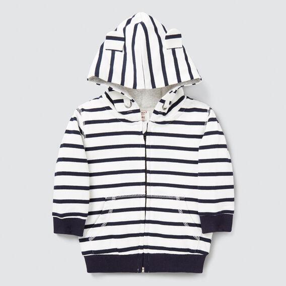 Sherpa Stripe Hoodie  VINTAGE WHITE  hi-res