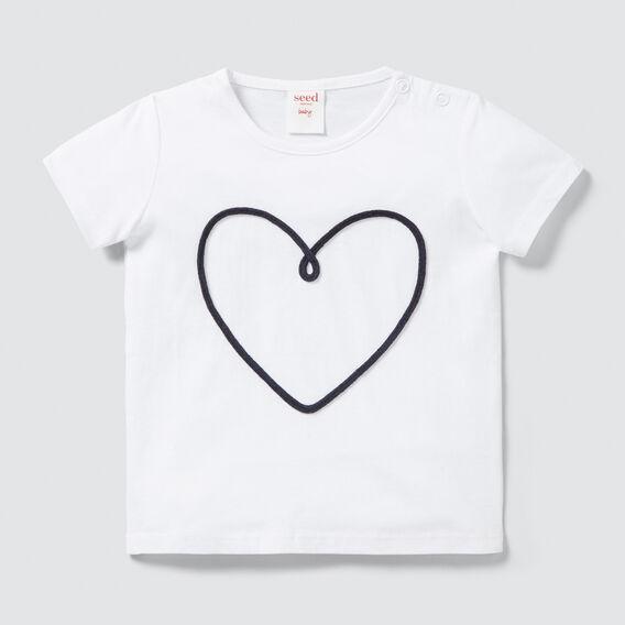 Rope Heart Tee  WHITE  hi-res
