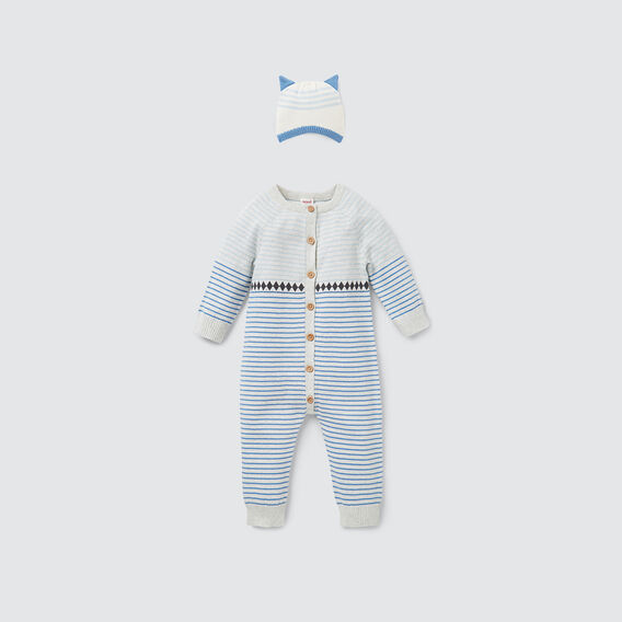 Stripe Knit Jumpsuit  ICY MARLE  hi-res