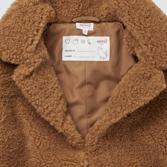 Teddy Coat  DARK BISCUIT  hi-res
