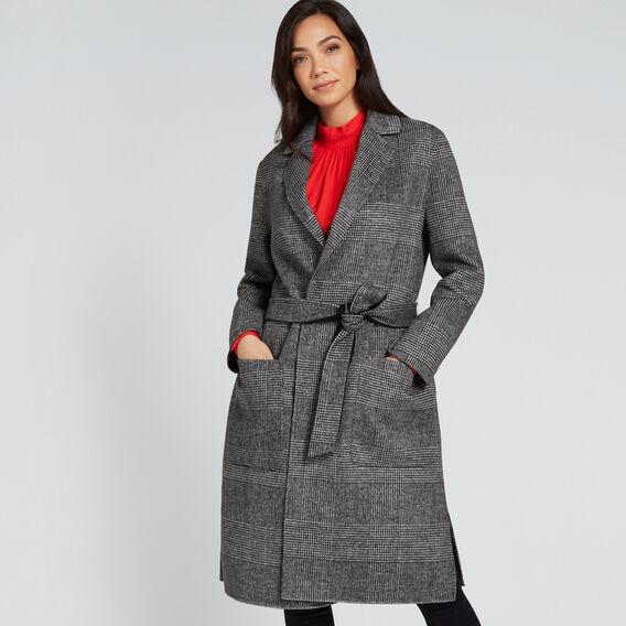 Longline Check Coat  CHECK  hi-res